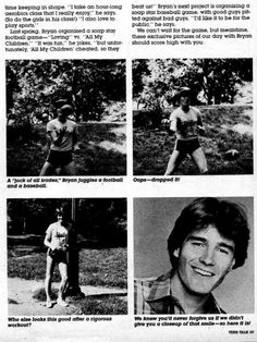 Hilarious images of Bryan Cranston modeling exercise poses for 80s teen magazine