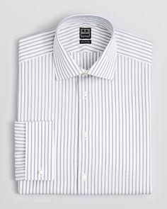 Ike Behar Stripe Dress Shirt - Classic Fit