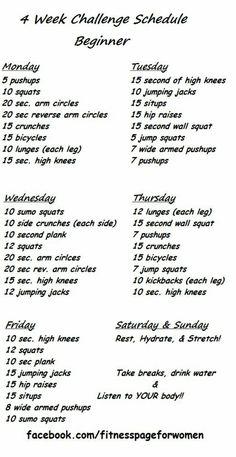 4 week challenge - beginner