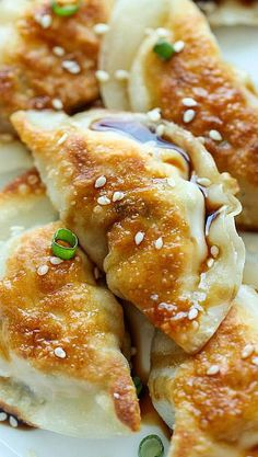 Sesame Chicken Potstickers perfect for fun frudays or sunday sesh yummmmm