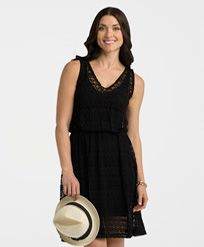 lace dress in black will make a gorgeous sun dress or summer cover-up wear over our V-neck shaping slip come see it at  http://www.rubyribbon.com/pws/daniellechapman/tabs/summer-capsule.aspx rr.daniellec@gmail.com