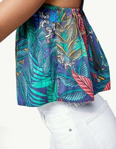 Printed tank top - Tops | Stradivarius Other Countries