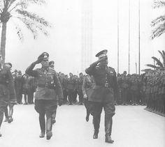 German Gen. Erwin Rommel arriving at Tripoli, Libya, 12 Feb 1941