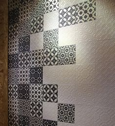 patterned, textured tiles Handmade tiles can be colour coordinated and customized re. shape, texture, pattern, etc. by ceramic design studios