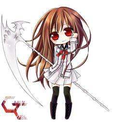 Render Vampire Knight - Renders Vampire Knight Yuki Kurusu vampire artemis chibi fille cheveux long chatain