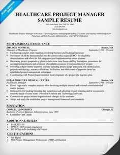 healthcare project manager resume example httpresumecompanioncom health jobs resume samples across all industries pinterest sample resume