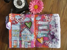 Scrappy Happy Mom - Faitht Journaling on a #gelliprinted background....