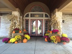 Front of Clubhouse - Fall Decorations 2015