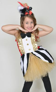 lion tamer circus ringmaster tutu and top costume carnival tutu circus outfit circus outfits and happy halloween - Pageant Girl Halloween Costume