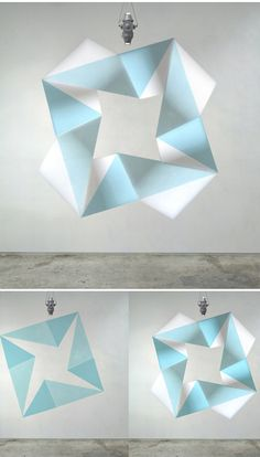 Paint/ Light installations by Jay Shinn...a few examples above that show the paint on it's own, and how the image is transformed once the light is projected onto the wall.