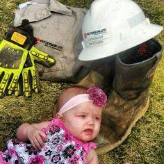 Oilfield kiddo :) wish Averi was little so we could do this...too bad daddy doesn't bring home his dirty clothes so we could do this with the girls some how