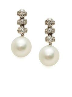 Diamond & Pearl Multi-Drop Earrings