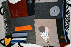 How to Make an Embellished Blanket with Recycled Sweaters - CraftStylish
