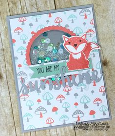 Stampin' Up Foxy Friends Shaker Card! Katrina Martinez
