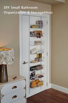 Small Bathroom storage is crucial for keeping your bathroom clean and clutter cost-free. If you have actually obtained a small bathroom storage or a huge household or both after that you are most likely in need of some brilliant bathroom storage ideas Basket Organization, Small Bedroom Organization, Organizing Small Bedrooms, Tiny Bedroom Storage, Wall Storage, Bedroom Storage Ideas For Small Spaces, Behind Door Storage, Small Bedroom Ideas On A Budget, Closet Door Storage