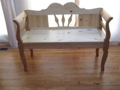 Hungarian Farmhouse Bench made of pine by Robert at Windsor Furniture. Order yours $840.00