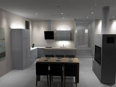 Kitchen lighting design will ensure that cooking is safer! 🍳