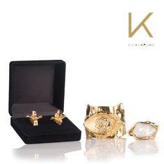 El complemento ideal para tus atuendos de fin de año son estos accesorios femeninos y elegantes de Kika Vargas, con baño en oro, piedras únicas y hechos a mano. #KikaVargas