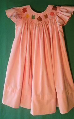Vintage Style, Vintage Fashion, Kids Corner, Autumn Leaves, Smocking, Bespoke, Machine Embroidery, Plate, Sewing