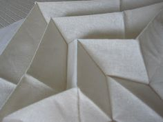 Pleated origami fabric experiments - 3D pleat patterns; fabric manipulation techniques; creative origami textiles design // Elizabeth Holt