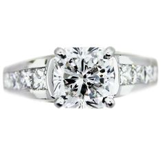Platinum and Diamond Engagement Ring 3.03 Radiant Cut with GIA Certificate
