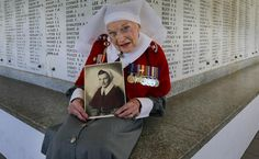 Former WWII nurse, Anne Leach, 101, at the State War Memorial. Picture: Nic Ellis/The West Australian
