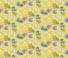 Fishes by Jessica Pollak Fabric Design Challenge One - Tiny Dwellings @Jess Liu Pollak