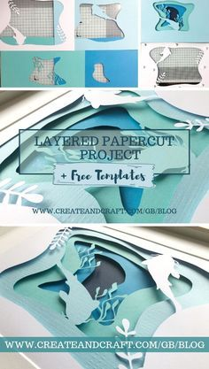 paper art Layered papercut art is all the rage right now and not only is it truly beautiful to look at but it can be incredibly relaxing to try your hand at, too! No idea where to start Weve got you covered with a full set of free printable templates! 3d Templates, Paper Cutting Templates, Templates Printable Free, Kirigami Templates, 3d Paper Art, 3d Paper Crafts, Diy Paper, Foam Crafts, Paper Cut Out Art