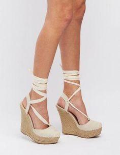 781c8299227192 Lace Up Espadrille Wedge Sandals  CharlotteLook   WomensshoesThatWillLastALifetime Schnürsandalen Mit Keilabsatz