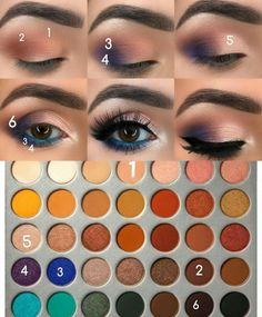 Pinterest @IIIannaIII - lovely eyeshadow look using the Jaclyn Hill palette from Morphe.