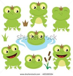 Cute frogs vector illustration
