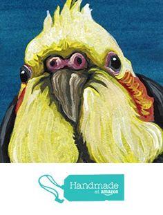 ACEO ATC Original Painting-Cockatiel Pet Bird Art-Carla Smale https://www.amazon.com/dp/B075X2ZLP5/ref=hnd_sw_r_pi_dp_HLvYzb9BQRNVH #handmadeatamazon