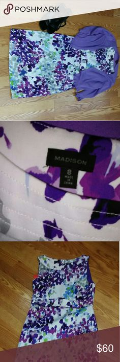 Madison dress and cardigan Excellent condition Like new Gorgeous! Madison Dresses Midi