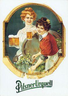 Реклама пива в старину (29 фото)