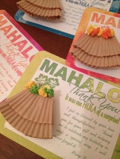 Unique One of a Kind Hawaiian Luau Thank you Cards Invitations Birthday Baby Shower Retirement Graduation Invite by JadeMarieMnD on Etsy