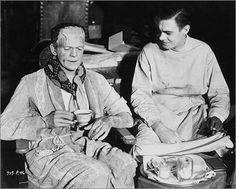 Frankenstein monster's tea time