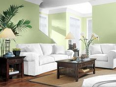 Bachelor needs advice on living room paint color (counter, colors, pictures) - Home Interior Design and Decorating - Page 2 Interior Design Living Room, Brown Living Room, Green Walls Living Room, Living Room Green, Living Room Wall, Living Room Paint, Interior Design, House Interior, Perfect Paint Color
