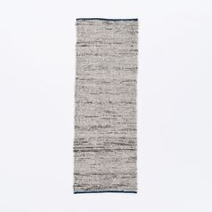 Plain Weave Sweater Wool Rug - Midnight | west elm