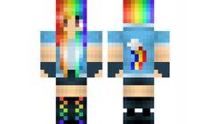 minecraft skin Rainbow-Dash-GIrl