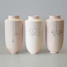 Vase by Elke van den Berg Ceramic Decor, Ceramic Design, Ceramic Clay, Ceramic Pottery, Ceramic Jugs, Stoneware, Porcelain Jewelry, Porcelain Ceramics, Cold Porcelain