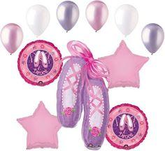 11pc Ballerina Balloon Bouquet Decoration Happy Birthday Party Girl Dance Ballet | eBay