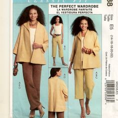 McCall's 5638, A Separates Pattern for Women: Jacket, Sleeveless Top, Pants and Capris by So Sew Some!