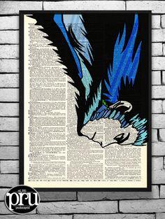 Master Howl At War Ghibli Original Print on an by PrudencePrint