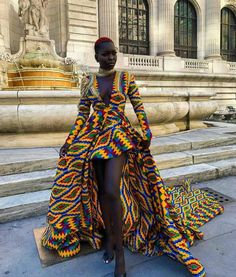 Beautiful Ankara Street Styles To Glam Up Your Looks - Afro Fahionista African Inspired Fashion, Latest African Fashion Dresses, African Dresses For Women, African Print Fashion, Africa Fashion, African Attire, African Wear, African Women, Ankara Fashion