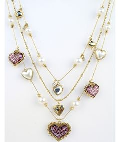 betsey johnson layered necklace