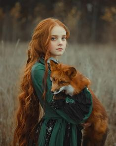 Mädchen und Fuchs … sie haben die gleichen roten Haare o: – Brenda O. Girl and fox … they have the same red hair o: – have Fantasy Photography, Beauty Photography, Portrait Photography, People Photography, Photo Reference, Art Reference, Art Fox, Fotografie Portraits, Redhead Models