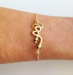 Scary gifts at DaWanda - Bracelets – Snake Bracelet – a unique product by Olga-Bel via en.dawanda.com
