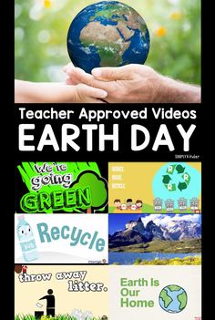 Teacher Approved Earth Day Videos Earth Day Activities, Stem Activities, Kindergarten Activities, Activities For Kids, Spring Activities, Preschool Art, All About Earth, Love The Earth, Earth Day Video