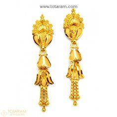 Gold Jewelry In Egypt Refferal: 6949084928 Gold Jhumka Earrings, Gold Chandelier Earrings, Jewelry Design Earrings, Gold Earrings Designs, 14k Gold Jewelry, Gold Drop Earrings, Indian Gold Jewellery Design, L Dk, Gold Mangalsutra Designs