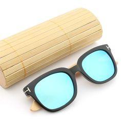 HDCRAFTER New Brand Designer Bamboo Sunglasses Men Vintage Polarized Sun Glasses Women Retro Wood Sun Glass Gafas De Sol Mujer